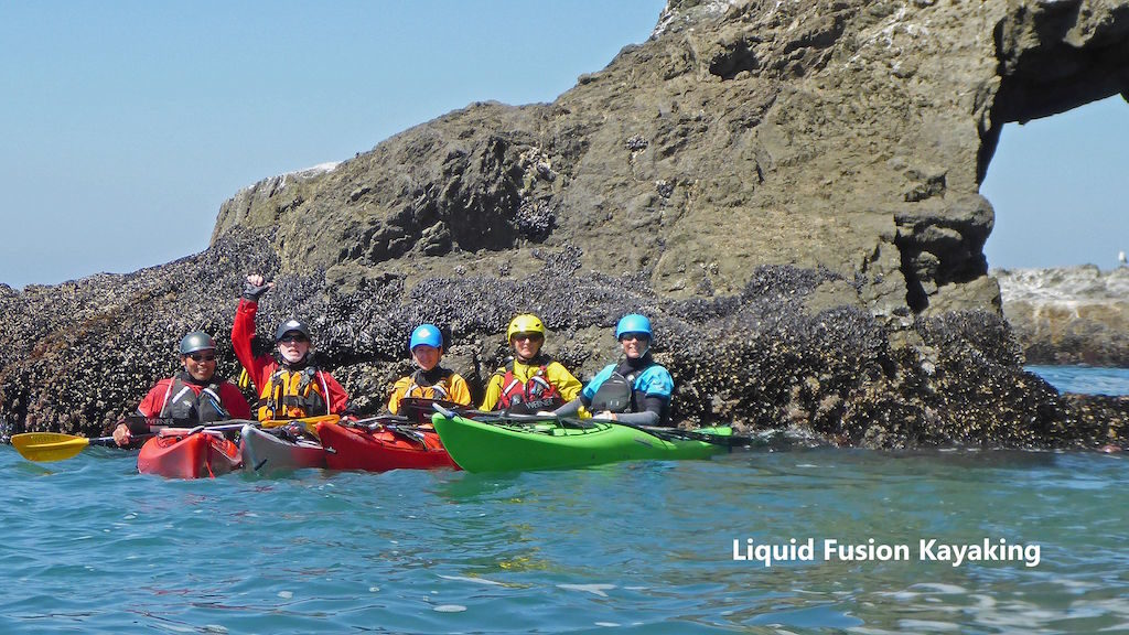 Kayaking the Mendocino Coast.