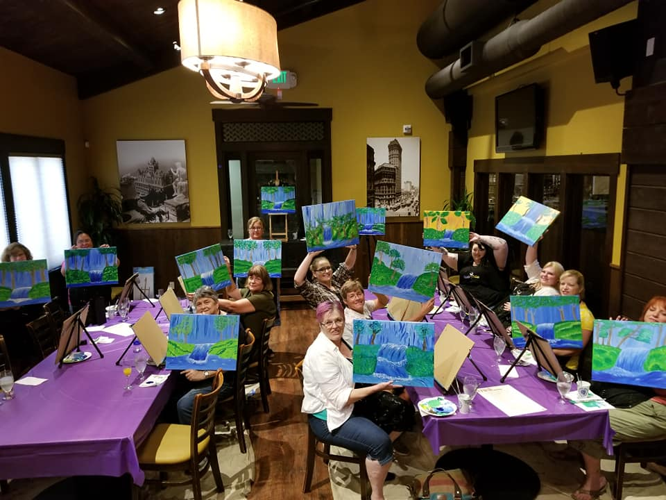 Painting class in Ukiah, California