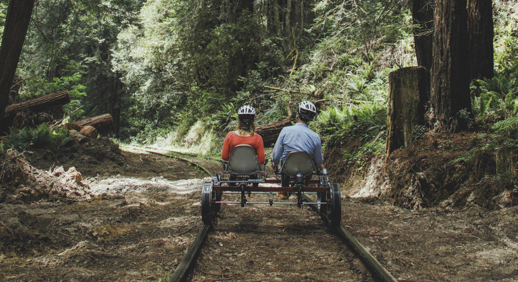 Rail Bikes of the Redwoods