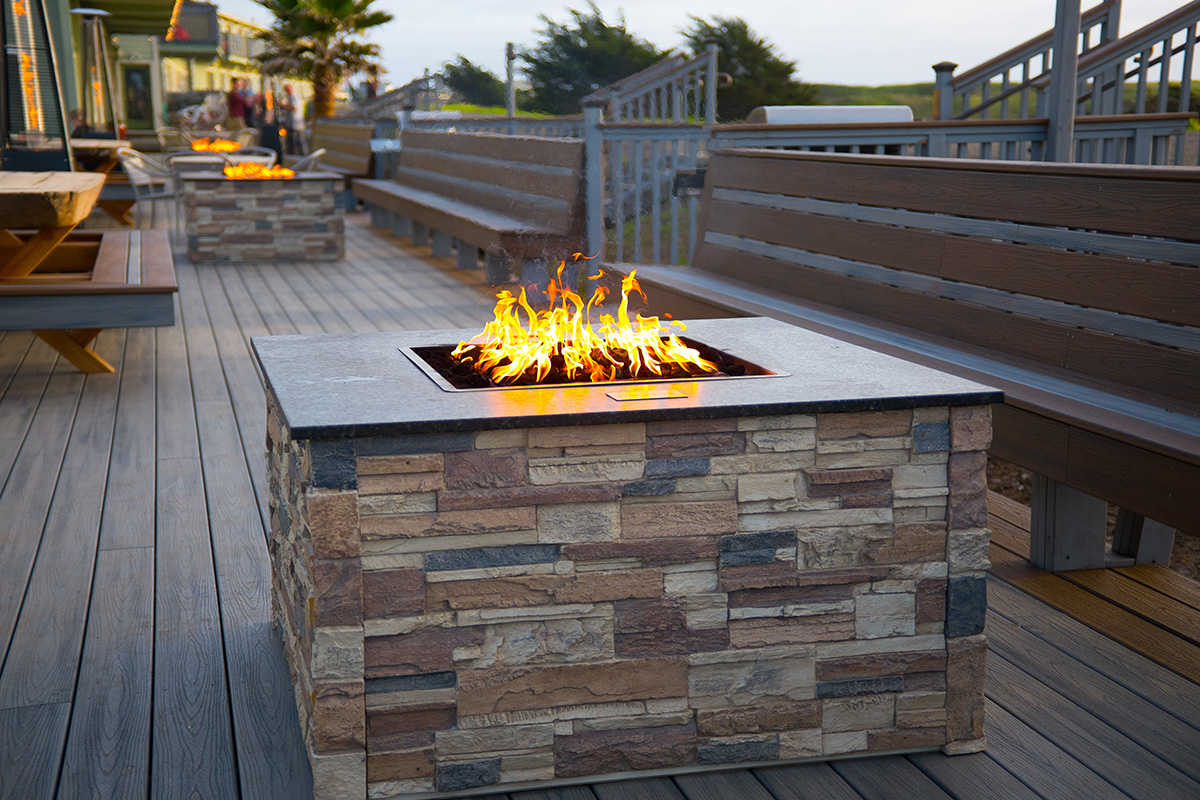 Fire pit on the Mates Deck of the Beachcomber Motel
