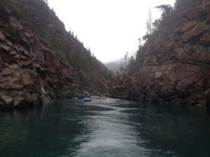 River rafting on the north fork of the Smith River