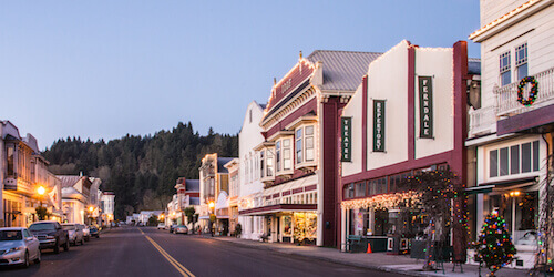 Main Street in Ferndale California.