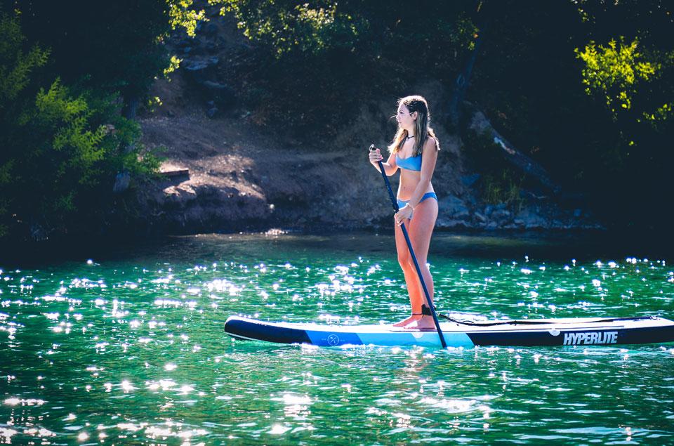 Standup Paddleboard at Blue Lakes in Lake County, California